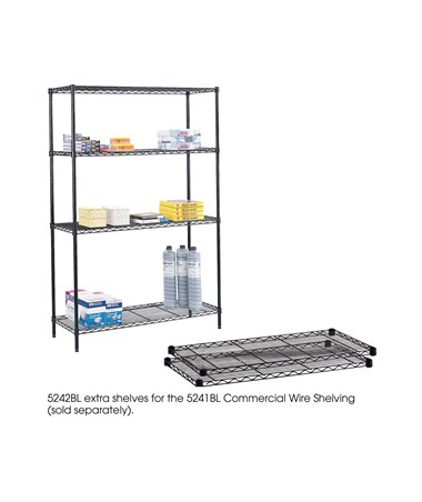 "Safco Commercial 48""W Extra Shelf Pack (Qty. 2) 5242BL"