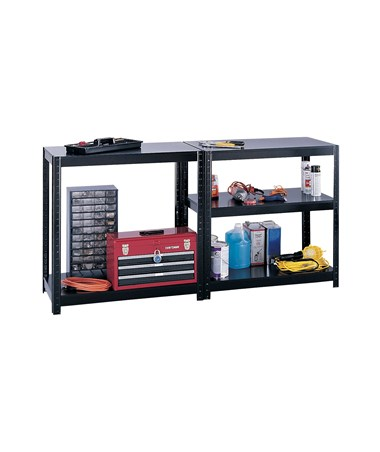 36-inches high workbench shelving
