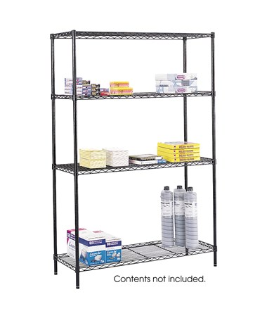 "Safco 48"" x 18"" Commercial Wire Shelving 5241BL"