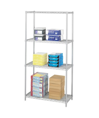 "Safco Industrial 36""W Wire Shelving Gray"