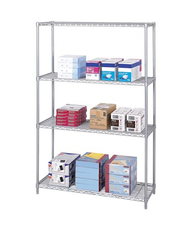 "Safco Industrial 48""W Wire Shelving Gray"