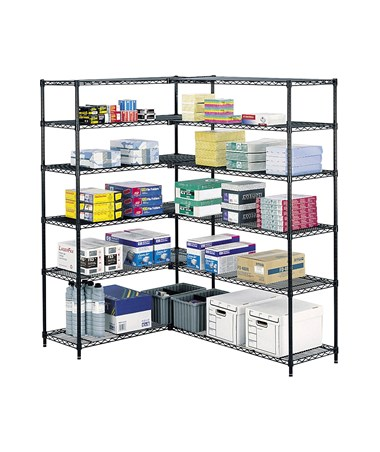 Safco Industrial Wire Shelving with Add-On Unit