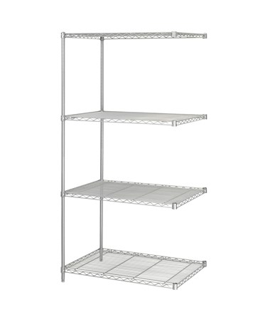 Safco Industrial Shelving Add-On Unit Gray