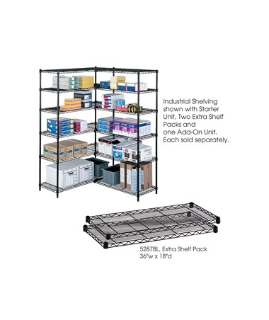 Safco Industrial Extra Shelf Pack (Qty. 2) SAF5287BL-