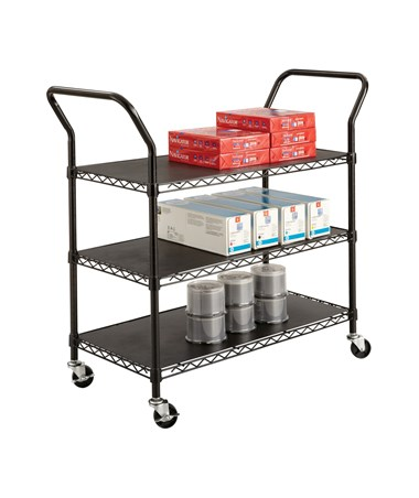 Safco Wire Utility Cart with 3 Shelves