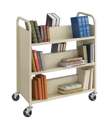 Safco Double-Sided Steel Book Cart 5357SA
