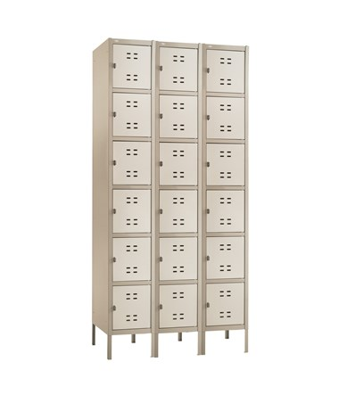 Safco Box Locker Three Column Tan 5527TN