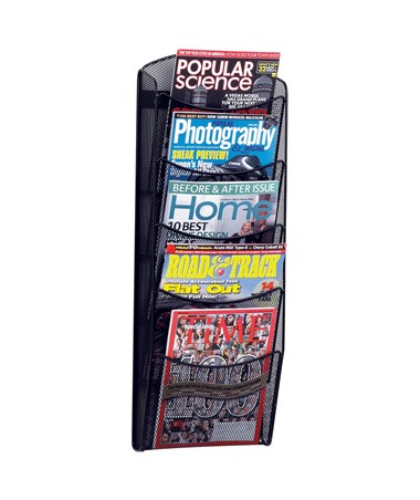 Safco 5-Pocket Onyx Magazine Rack 5578BL