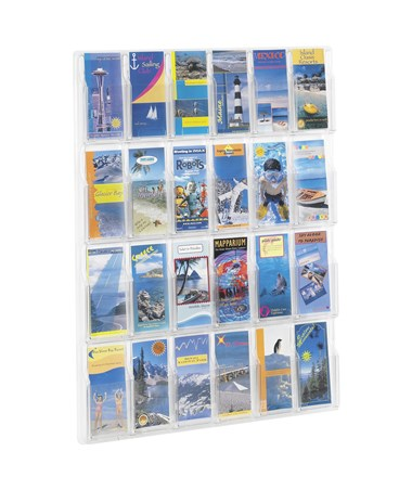 Safco Reveal 24-Pocket Pamphlet Display