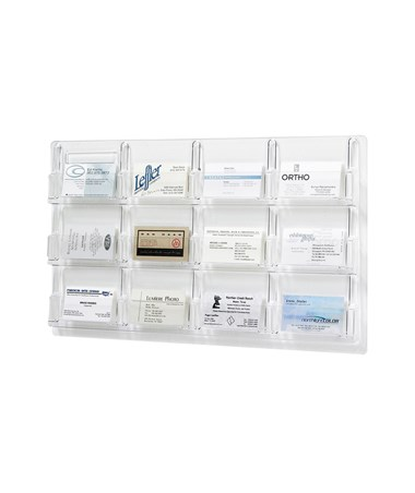 Safco Reveal 12-Pocket Business Card Display