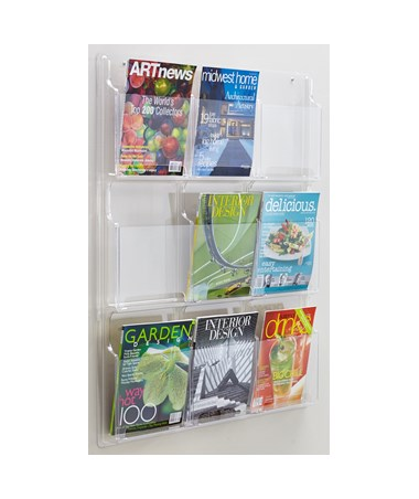Safco Reveal 9-Pocket Magazine Display
