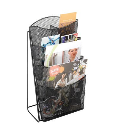 Safco Onyx Mesh 4-Pocket Magazine Rack