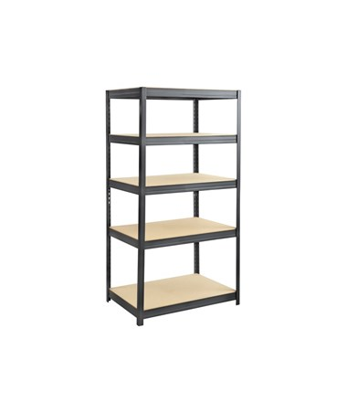 "Safco Boltless Steel and Particleboard Shelving, 36""W x 24""D 6247BL"