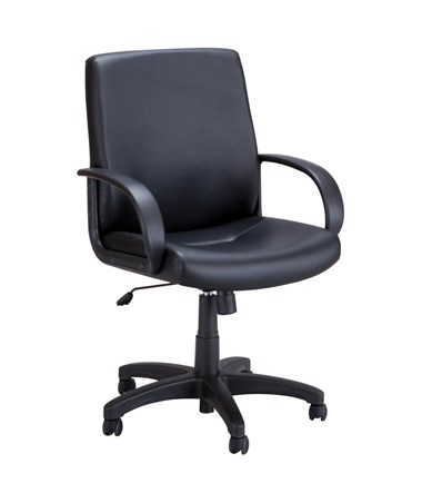 Safco Poise Executive Seating Black Vinyl 6301BV