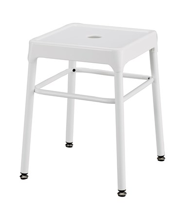 Safco Steel Guest Stool White 6604WH