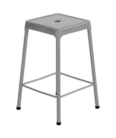 Safco Steel Counter Stool Silver 6605SL