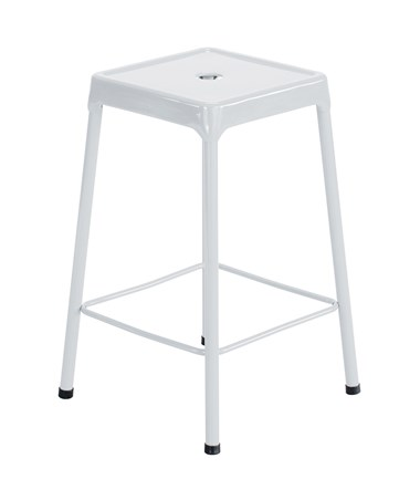 Safco Steel Counter Stool White 6605WH
