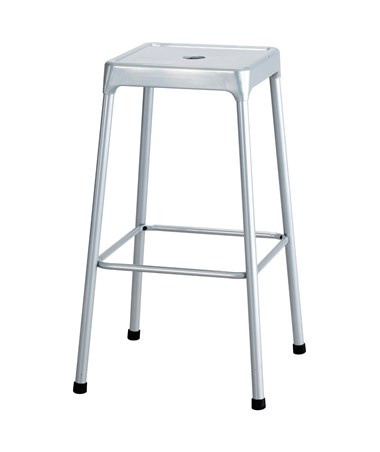 Safco Steel Bar Stool Silver 6606SL