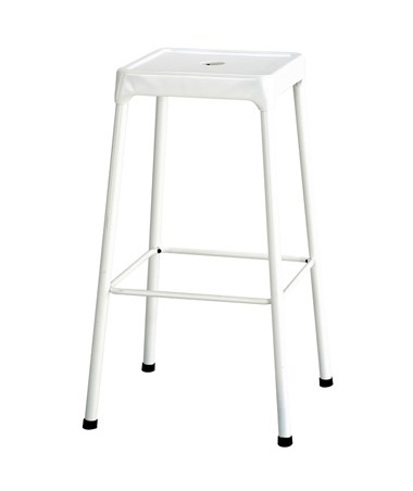 Safco Steel Bar Stool White 6606WH