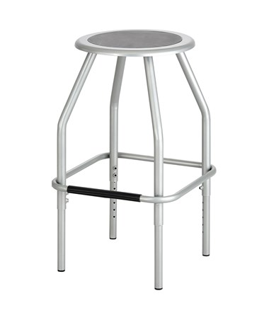 Safco Diesel Adjustable Height Steel Stool, Silver SAF6666SL