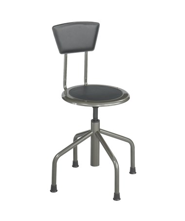 Safco Diesel Industrial Low Base Stool, With Backrest SAF6668