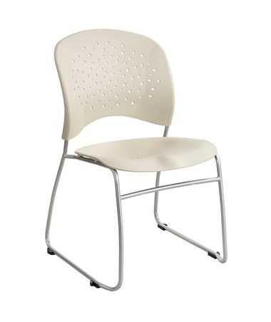Safco Reve Sled-Base Round Back Guest Chair Latte 6804LT