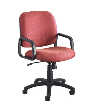 Safco Cava Urth High Back Chair Burgundy 7045BG