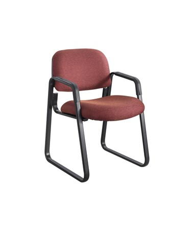 Safco Cava Urth Guest Chair Sled Base, Burgundy 7047BG