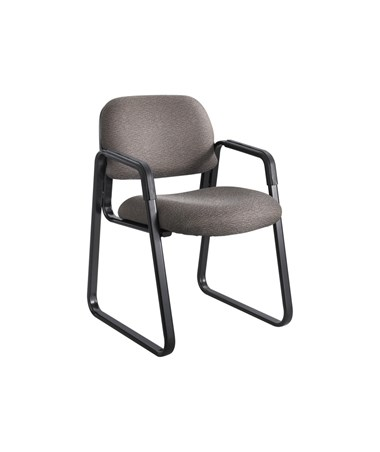 Safco Cava Urth Guest Chair Sled Base, Brown 7047BR