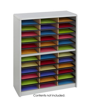 Safco Value Sorter Literature Organizer, 36 Compartment Gray SAF7121GR