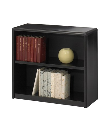 Safco ValueMate 2-Shelf Economy Bookcase Black 7170BL