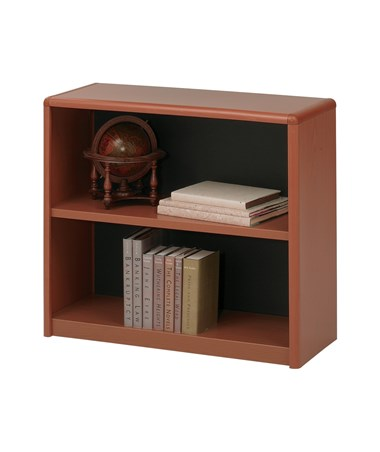 Safco ValueMate 2-Shelf Economy Bookcase Cherry 7170CY