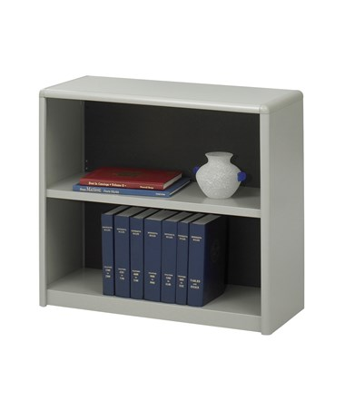 Safco ValueMate 2-Shelf Economy Bookcase Gray 7170GR