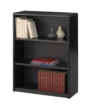 Safco ValueMate 3-Shelf Economy Bookcase Black 7171BL