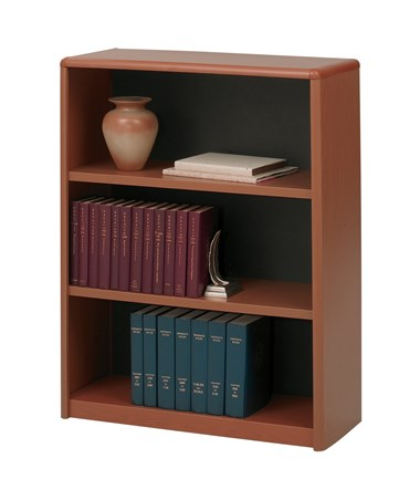 Safco ValueMate 3-Shelf Economy Bookcase Cherry 7171CY