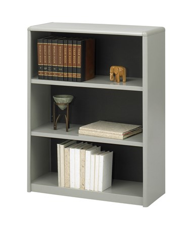Safco ValueMate 3-Shelf Economy Bookcase Gray 7171GR