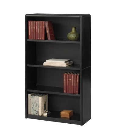 Safco ValueMate 4-Shelf Economy Bookcase Black 7172BL