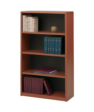 Safco ValueMate 4-Shelf Economy Bookcase CHerry 7172CY