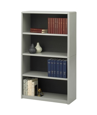 Safco ValueMate 4-Shelf Economy Bookcase Gray 7172GR