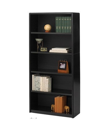 Safco ValueMate 5-Shelf Economy Bookcase Black 7173BL