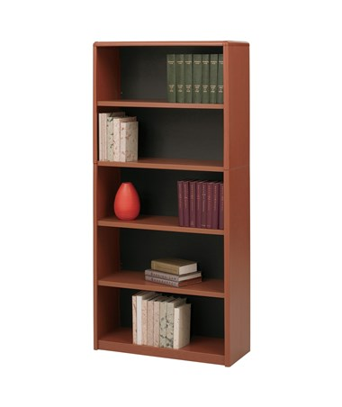 Safco ValueMate 5-Shelf Economy Bookcase Cherry 7173CY