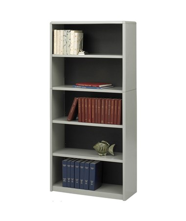 Safco ValueMate 5-Shelf Economy Bookcase Gray 7173GR
