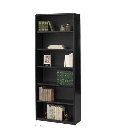 Safco ValueMate 6-Shelf Economy Bookcase Black 7174BL