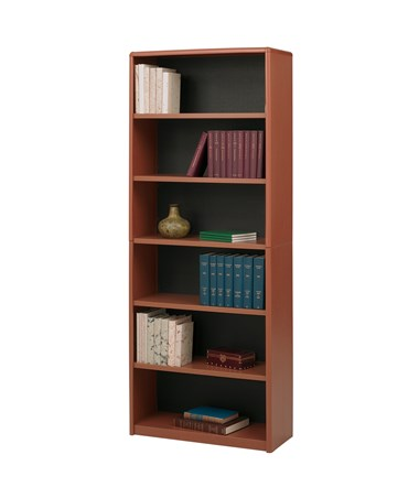 Safco ValueMate 6-Shelf Economy Bookcase Cherry 7174CY