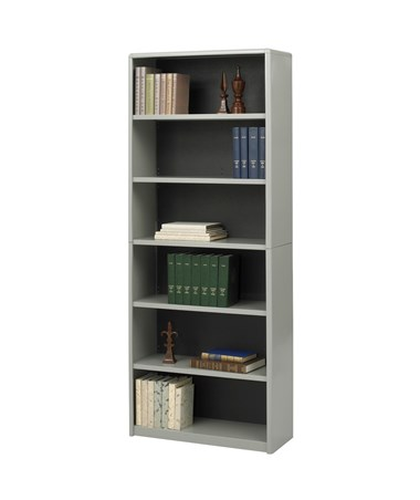 Safco ValueMate 6-Shelf Economy Bookcase Gray 7174GR