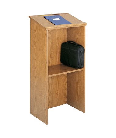 Safco Stand-Up Lectern Mahogany 8915MH