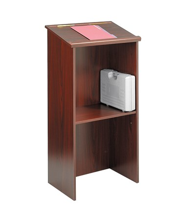 Safco Stand-Up Lectern Medium Oak 8915MO
