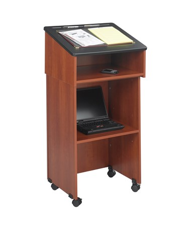 Safco Lectern Base/Media Cart with Lectern Top