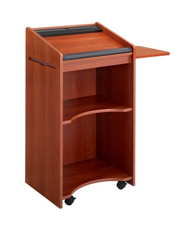 Safco Executive Mobile Lectern Cherry 8918CY