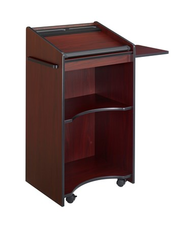 Safco Executive Mobile Lectern Mahogany 8918MH